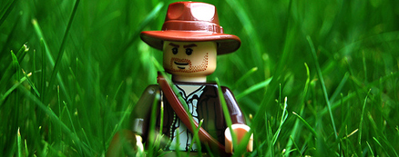 Indiana Jones in grass