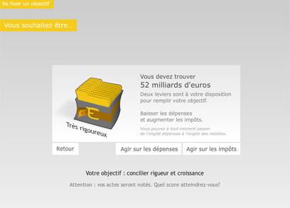Figaro capture d'écran d'objectif budget