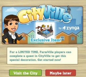 Durant une période limitée, les joueurs de farmville peuvent construire un bâtiment unique dans leur ville