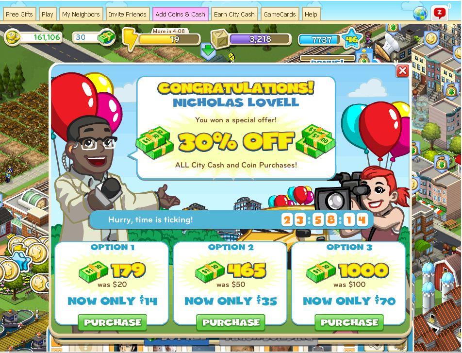 Zynga a différentes offres pour acheter des billets, conversion virtuelle de vos paiements en monnaie réelle